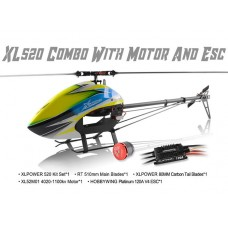 XLPower 520 Kit with Main Blades, Tail Blades, 4020 Motor, 120A ESC